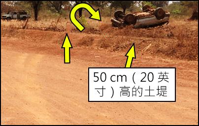 50 cm(20 英寸)高的土堤