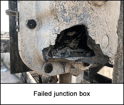 Failed junction box