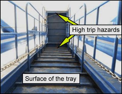 Highlighting a trip hazard